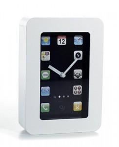 Tisch oder wanduhr im iphone design mit apps statt zahlen for Tisch iphone design
