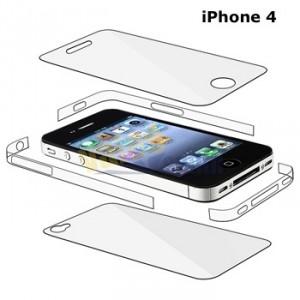 iphone 4 vollschutz, rahmenfolie iphone, folie rahmen iphone 4
