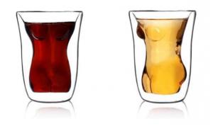 Körper Glas Doppelwandig