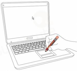 laptop finger maus