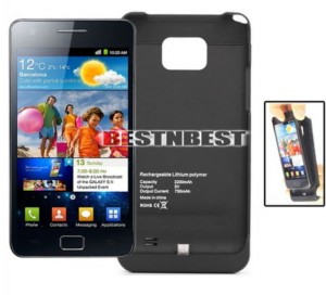 2200mah Case Samsung S2 i9100 Hülle Akkuhülle externer Akku