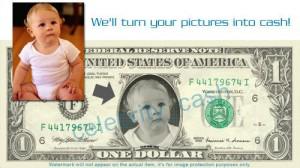 dollarbild, bild im geldschein, bild in dollarnote