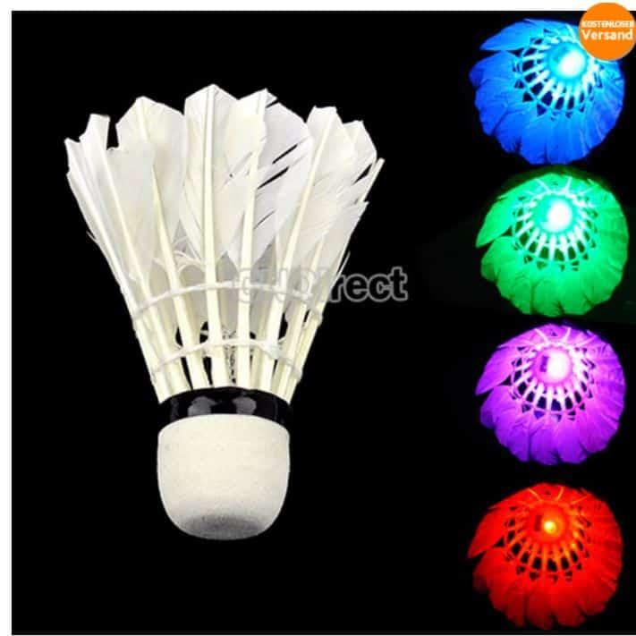 LED Federball Badmintonball günstig nur 1 Euro kostenloser Versand China Gadget Gadgets