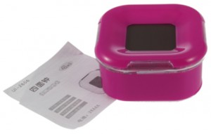 pink lcd uhr
