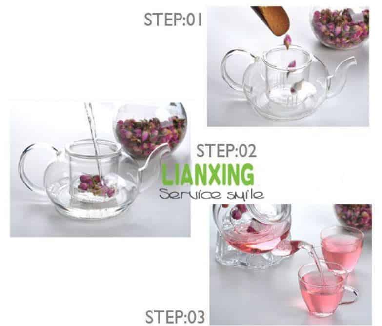Tekkanne Geschenk Tee Glaskanne mit Sieb China Gadgets Geschenke Schnaeppchen