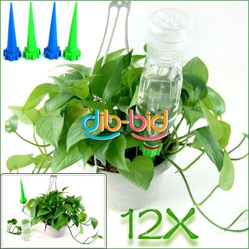 automatische bew sserung f r zimmerpflanzen 12x aufsatz f r pet flaschen nur 2 17 0 18. Black Bedroom Furniture Sets. Home Design Ideas