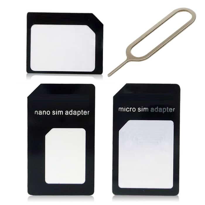 sim karte vergrößern Komplettes Adapter Set zum Vergrößern von Nano oder Micro SIM