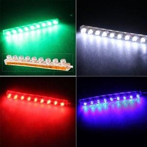 wasserfeste universal 12v led lichtleiste mit 9 leds farbwahl nur 1 45. Black Bedroom Furniture Sets. Home Design Ideas