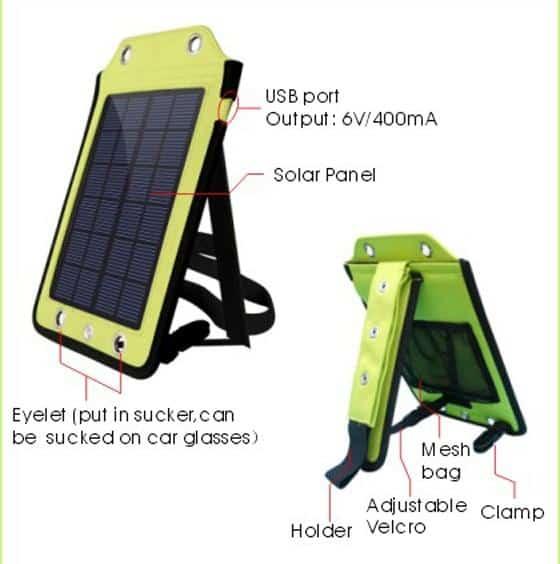 gro e usb solarzelle zum aufladen von smartphones oder. Black Bedroom Furniture Sets. Home Design Ideas