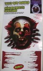 clown aufkleber horror, spülkasten horror aufkleber, spülkasten blut