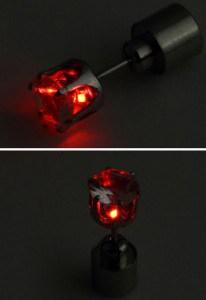 ohrring rot led