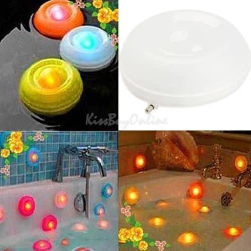 wasserdichte led lampe mit farbwechsel f r das entspannte bad nur 1 06. Black Bedroom Furniture Sets. Home Design Ideas