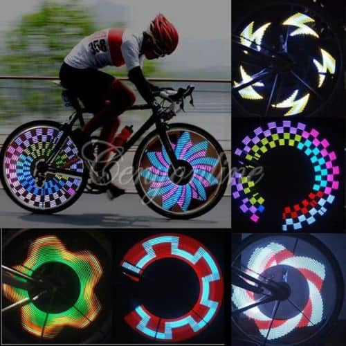 fahrrad modding x treme 32 led speichen effektleiste mit. Black Bedroom Furniture Sets. Home Design Ideas