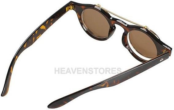 retro sonnenbrille mit hochklappbaren gl sern mit farbwahl. Black Bedroom Furniture Sets. Home Design Ideas