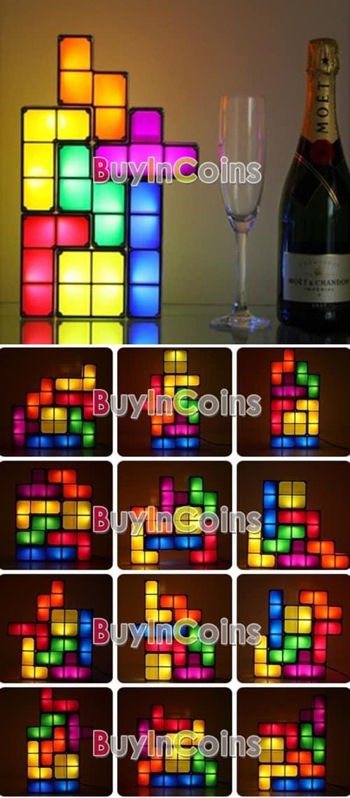 Tetris Leuchte! Stein für Stein das eigene Licht bauen für 21,11 Euro (gratis Lieferung) aus China!