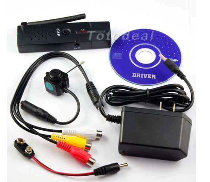 Videoempfänger USB, Wardriving, Kamera Mini, Überwachung, USB 2,4 GHz Kamera 4 Kanäle USB, China bester Preis