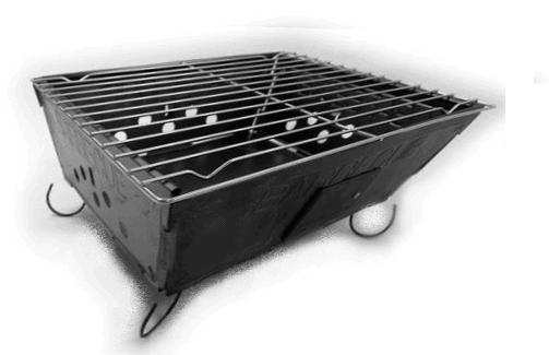 der platzsparende grill f r unterwegs ab 5 99 euro inkl versand aus deutschland. Black Bedroom Furniture Sets. Home Design Ideas
