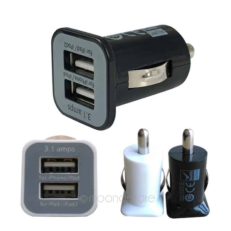3 1 ampere mini adapter von zigarettenanz nder auf 2x usb f r smartphones tablets navi mp3. Black Bedroom Furniture Sets. Home Design Ideas