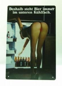 Deshalb steht Bier immer im unteren Kühlfach, Schild, günstig, gratis Versand, Geschenkidee