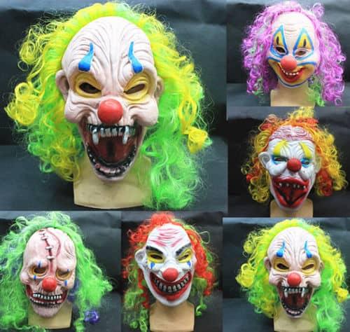 Horror Clows Maske, Latex Helloween Maske günstig