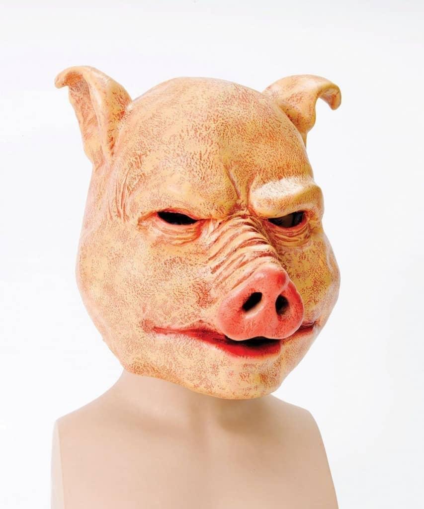 Latex Maske Horror, Schwein Maske, Helloween , Kostüm , Horror Schwein
