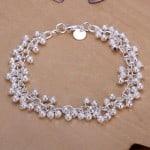 Armband , 925 versilbert, Perlen, bester Preis, Modeschmuck