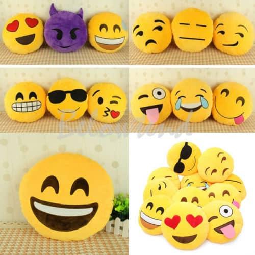 smiley emoji kissen 30cm durchmesser f r nur 5 27 euro gratis versand. Black Bedroom Furniture Sets. Home Design Ideas