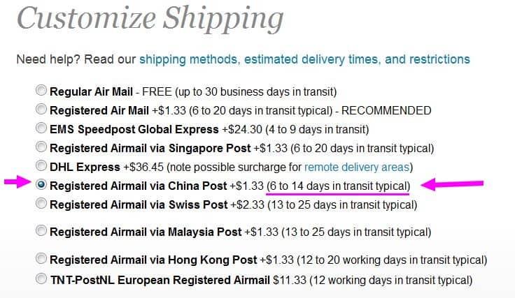 Noch schnell ein Weihnachtsgeschenk aus China bestellen? Es ist z.B. bei Fasttech noch möglich!!