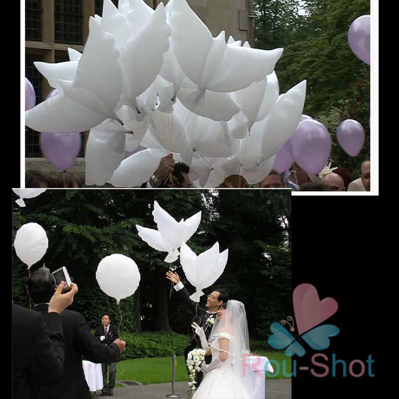 Tauben als luftballon mit beachtlicher spannweite von ber einem meter f r 1 euro pro st ck - Luftballon deko ...