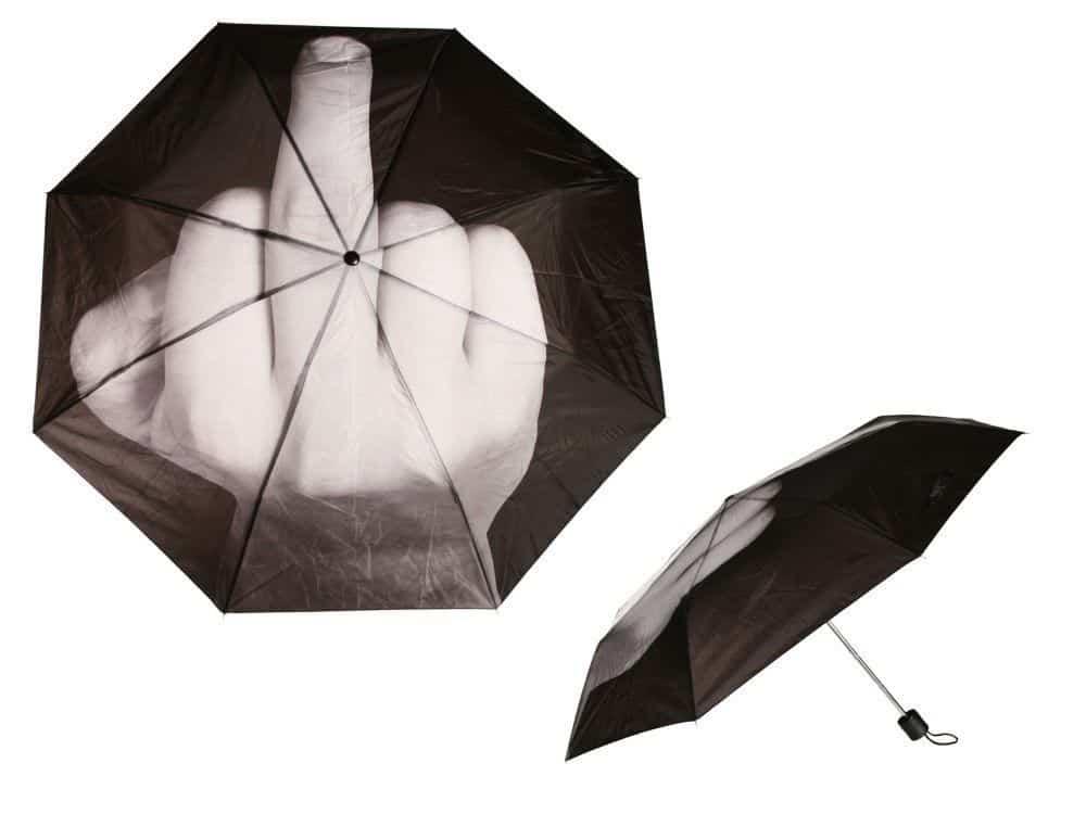 Fuck the Rain!? Stinkefinger Regenschirm für 16,62 Euro inkl. Lieferung!