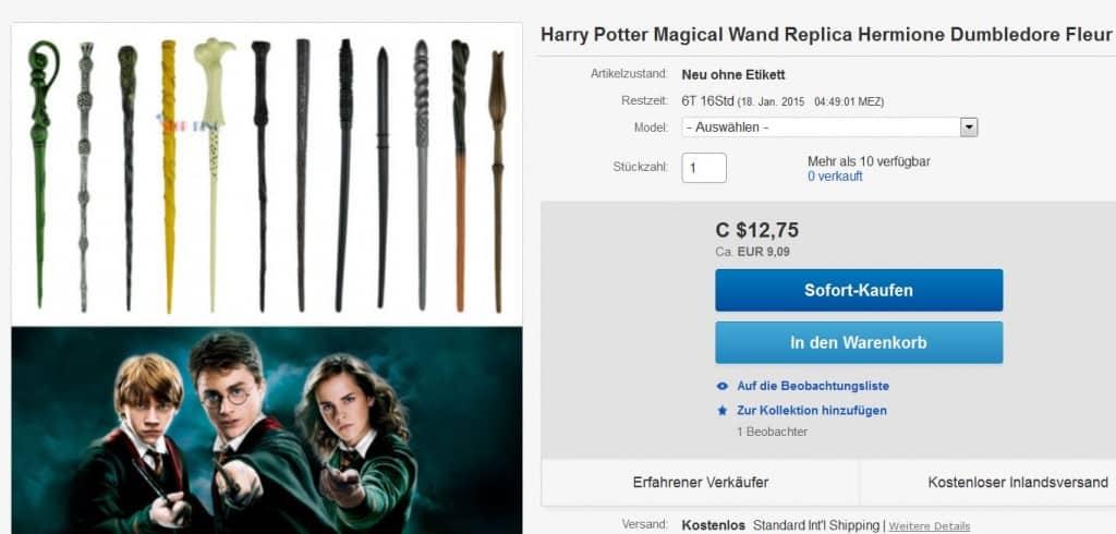 Zauberstab, Harry Potter, Replika, Replica, Zauberstäbe, bester Preis, Gadget, Gadgets, China