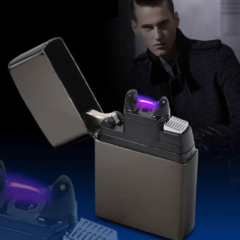 Lichtbogen Feuerzeug Die Zigarette An Plasma Entz 252 Nden