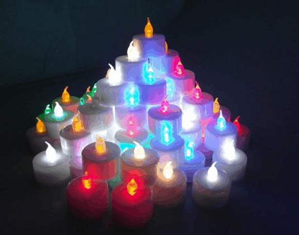 led kerzen teelichter in verschiedenen farben f r nur 70 cent gratis lieferung aus dem. Black Bedroom Furniture Sets. Home Design Ideas