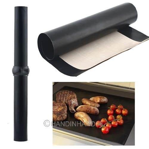 BBQ Grill Mat, Grill Teflon Glasfaser, Grillmatte, Gadget, antihaftbeschichtung Grill, Grillen, Veganer vegal grillen, Grillauflage Teflon günstig, gratis Versand