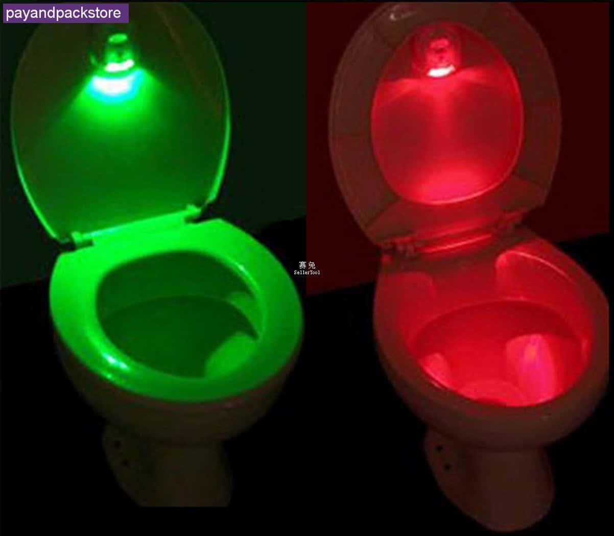 toiletten licht toiletlight es zeigt euch im dunkeln an ob die klobrille oben rotes licht. Black Bedroom Furniture Sets. Home Design Ideas