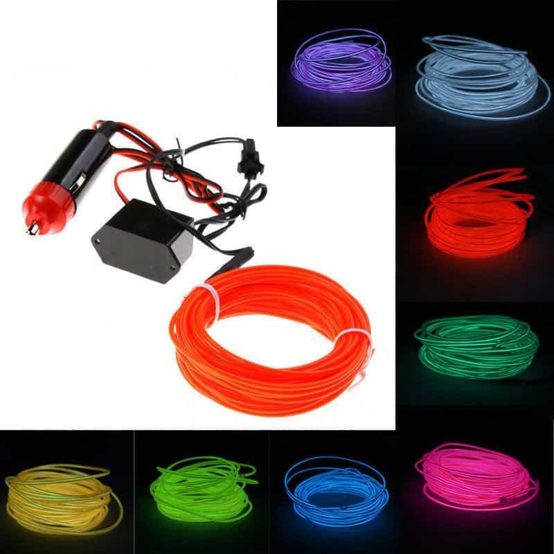 EL Leuchtkabel, Deko, günstig aus China, einkaufen, Gadgets günstig kaufen, bester Preis, Gadgetwelt, Auto 12 Volt, KFZ 12v#