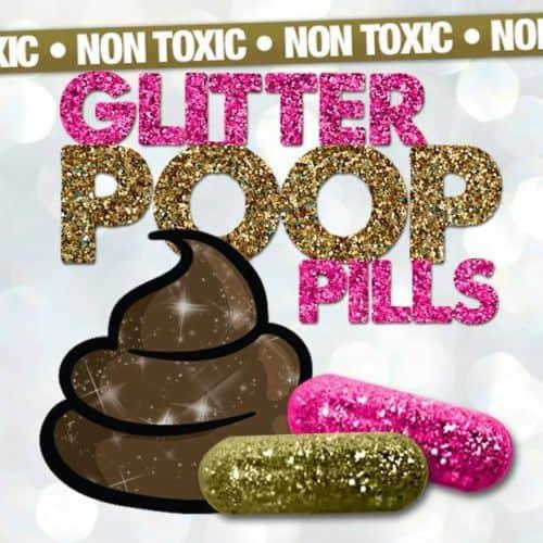 Glitter Pills? Aus Scheiße Gold machen? Aus Scheiße Glitter-Kot machen? Das Ende der Welt scheint sehr nah zu sein! :-)