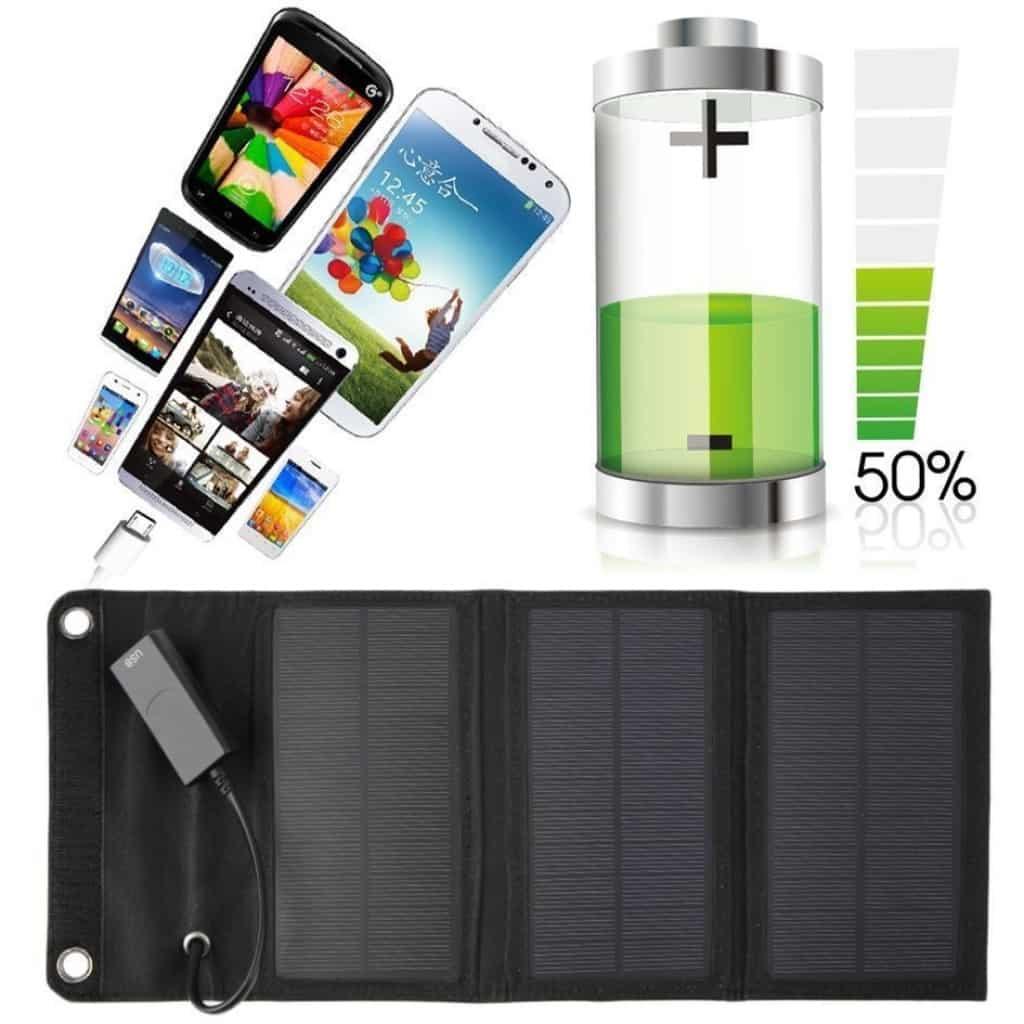 6 Watt Solarlader USB, Angebot, günstig Solar Outdoor, Ladegerät Smartphone Solar