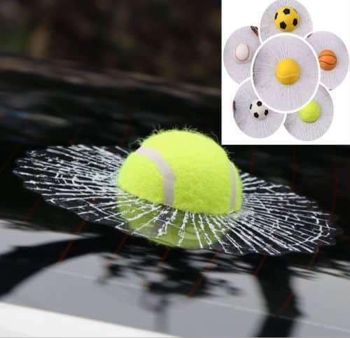 der 3d aufkleber mit dem tennisball jetzt nur noch 3 06 euro inkl versand. Black Bedroom Furniture Sets. Home Design Ideas