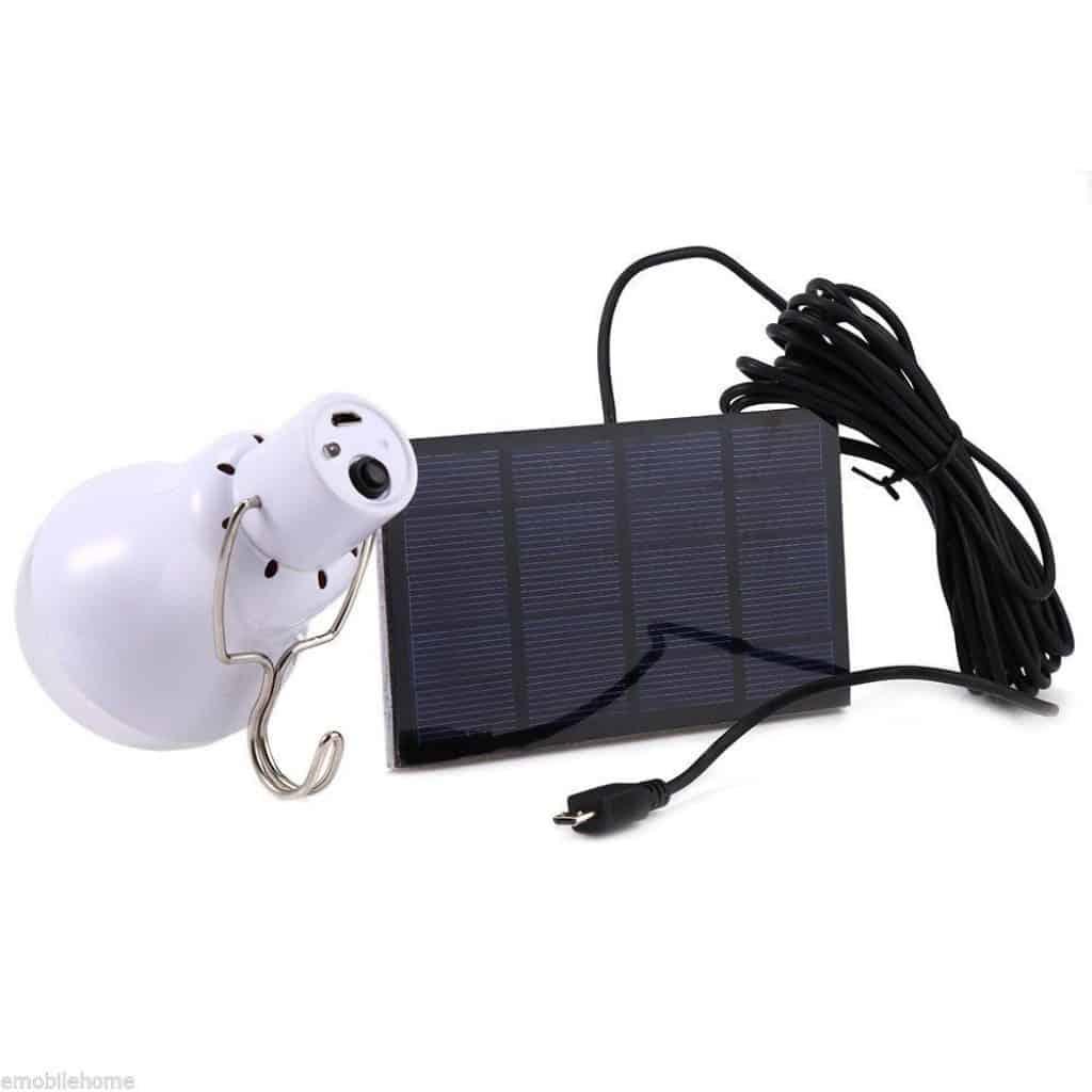 Solarzelle + Akku-LED-Leuchte, Gadget, Outdoor, Bushcraft, Solarzelle Lampe LED, Zeltlampe, Gadget