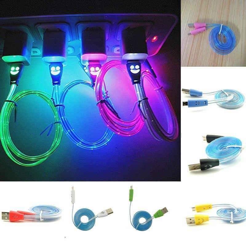 LED Ladekabel für alle Smartphones mit Micro USB ab nur 67 Cent + freie Farbwahl!