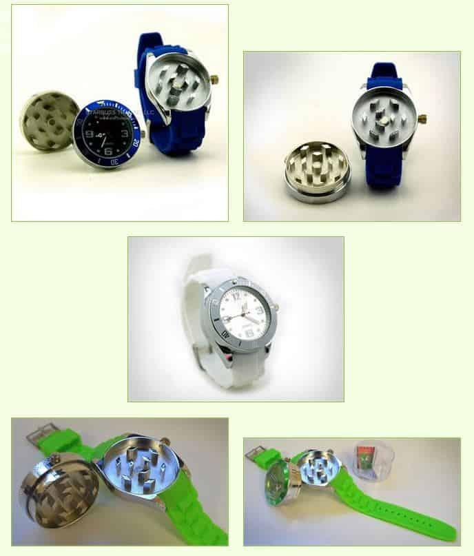 Grinder Uhr? Es ist an der Zeit Kräuter zu zerkleinern? Kräutermühle + funktionstüchtige Armbanduhr in einem Gadget für 10,73 Euro (gratis Versand)! :-)