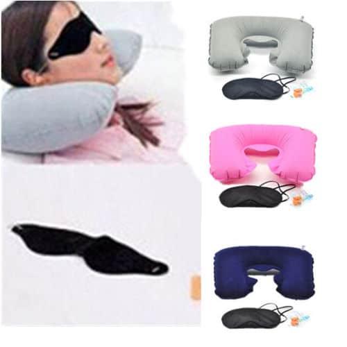 das reise set nackenrolle aufblasbar maske ohrst psel f r zusammen nur 1 17 euro. Black Bedroom Furniture Sets. Home Design Ideas