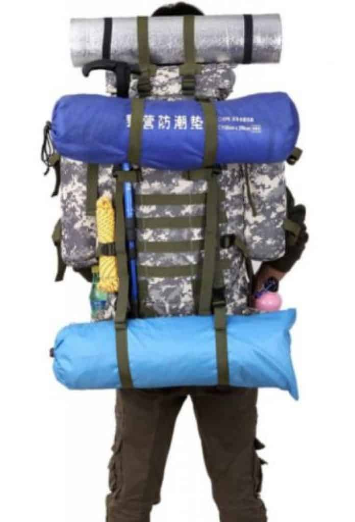 80 Liter Rucksack, Tarnfarbe, günstig Rucksack, China Gadget, günstig