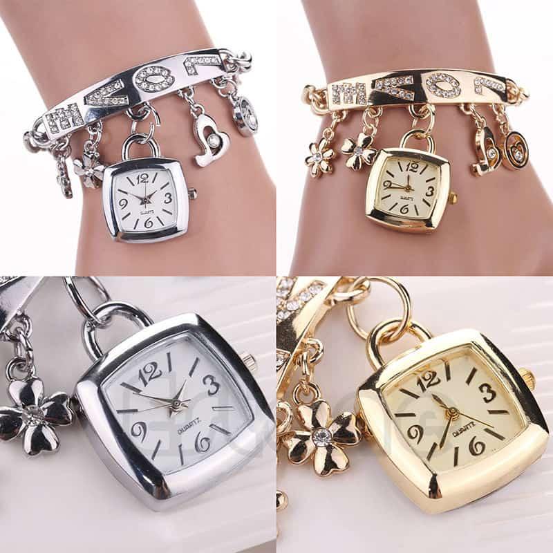 Kein Gadget, aber hübsch! Armband mit Uhr und vielen Steinchen für nur 2,91 Euro (gratis Versand)!