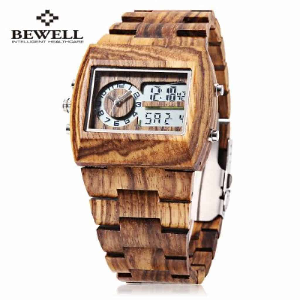 Bewell Uhr Holz
