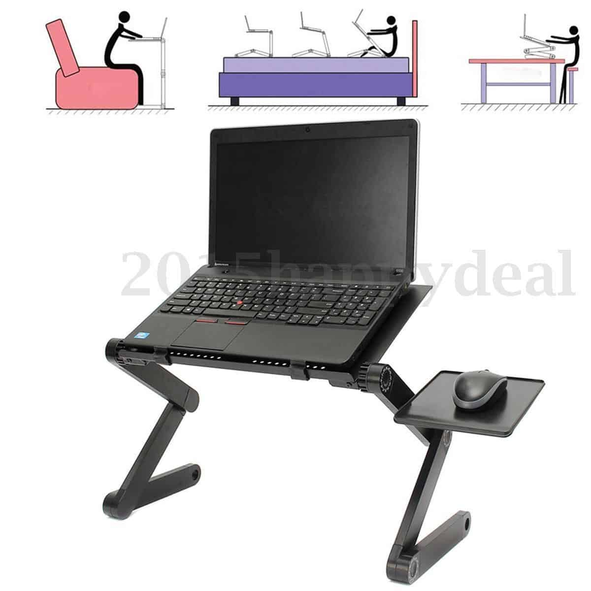 faltbarer notebook tisch aus aluminium ab 15 55 euro inkl. Black Bedroom Furniture Sets. Home Design Ideas