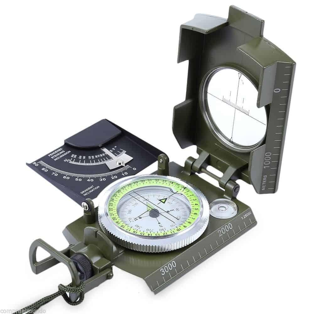 kompass aus metall mit neigungsmesser und optik f r 10 66. Black Bedroom Furniture Sets. Home Design Ideas