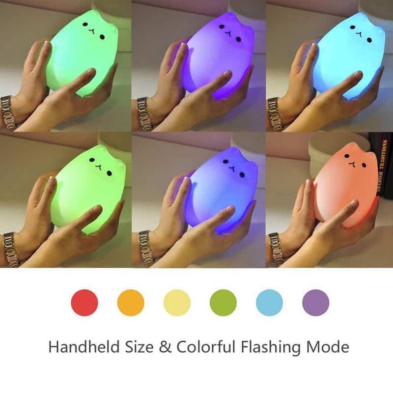 Led-Lampe im Katzen-Design mit großem Akku für bis zu 15 Stunden Licht!