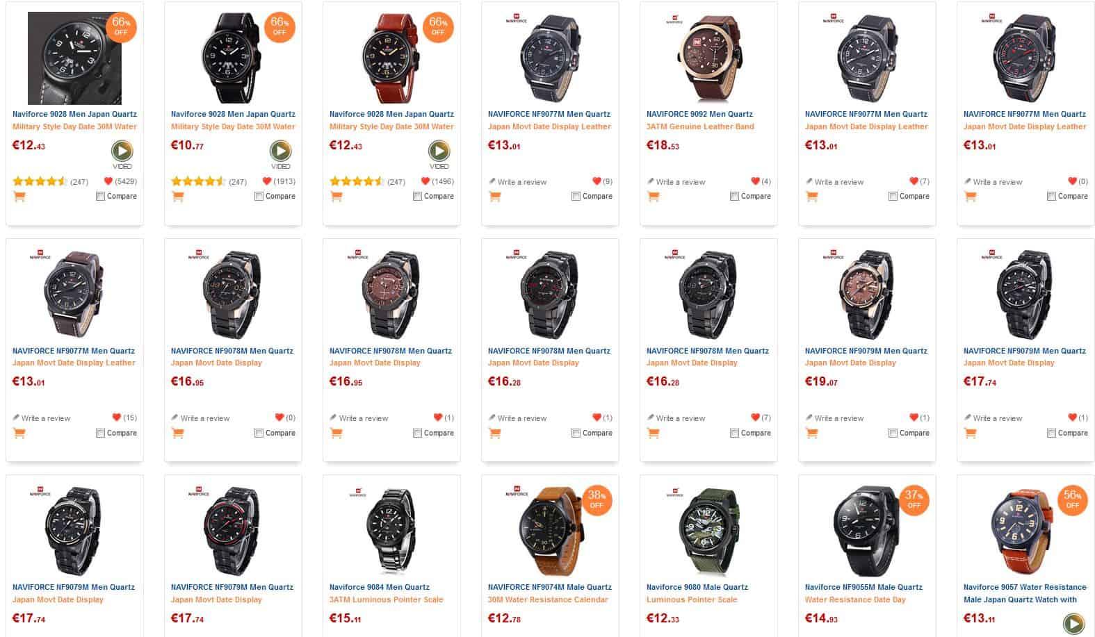 Naviforce Uhren mit Japan-Quarzwerk und meist wasserdicht!